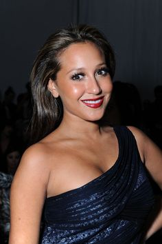 Adrienne Bailon Photos Photos - Singer Adrienne Bailon attends Mercedes-Benz Fashion Week at Bryant Park on February 15, 2010 in New York City. - Around Bryant Park - Day 5 - Fall 2010 MBFW
