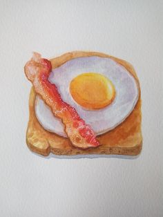 ArtStation - Bacon and Egg Illustration, kseniya eremenko