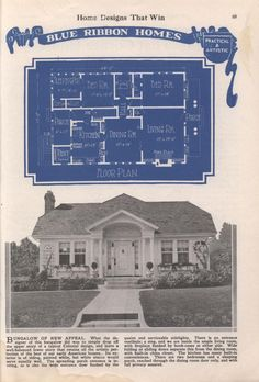 American Builder, November 1923, Definitely a Radford Blue Ribbon Bungalow of a very familiar design! At least to folks familiar with the Sears Modern Homes model, the Crescent! (And all its clones and look alikes.)