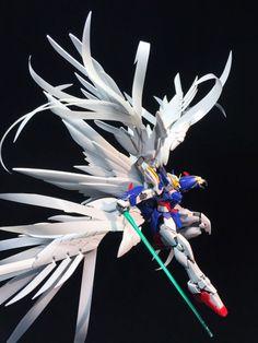 POINTNET.COM.HK - 擺POSE 的重要!!!素組 RG 1/144 Wing Zero Custom EW + Custom Feather…