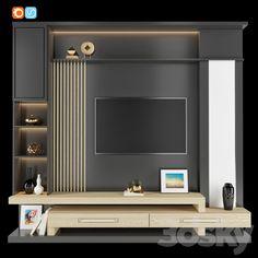 Tv Unit Interior Design, Tv Unit Furniture Design, Bedroom Furniture Design, Living Room Wall Units, Living Room Tv Unit Designs, My Living Room, Modern Tv Room, Modern Tv Wall Units, Lcd Wall Design