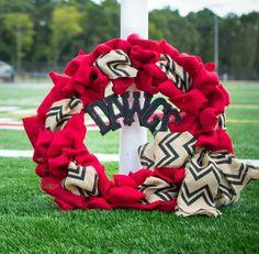UGA Dawgs Burlap Wreath by HalfPintEmmaLou on Etsy, $70.00