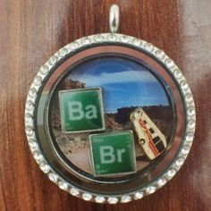 Pop Culture Lockets from Lubbock, TX. Like an origami Owl, but not. Breaking Bad necklace locket.  Jewelry