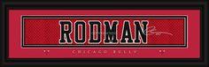 Chicago Bulls Dennis Rodman Print - Signature 8x24 (backorder)