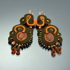 Soutache Earrings Badak Merah  will add glamour to by OzdobyZiemi
