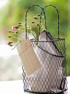 take a little gift.. Wire basket