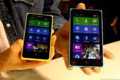 Nokia X vs Nokia XL size comparison (source: Cnet)
