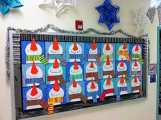 Love these fun snowmen - how cute would they be for a winter bulletin board.
