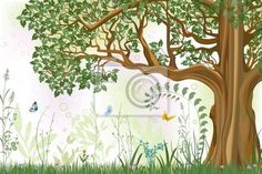 """Wall Mural """"tree, forest, wood - oak tree"""" ✓ Easy Installation ✓ 365 Day Money Back Guarantee ✓ Browse other patterns from this collection!"""
