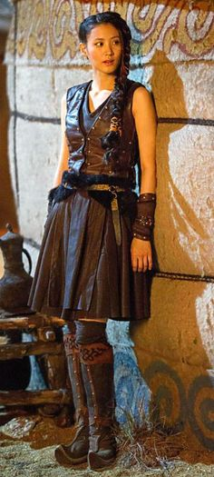 Khutulun was a nonfictional character and also is a character on Marco Polo which is awesome! She was a great wrestler, 10,000 men attempted to beat her in wrestling in hopes of marrying her. She has never been beat.. a true warrior!!!