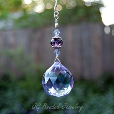 Purple Crystal Suncatcher  #suncatcher #purple