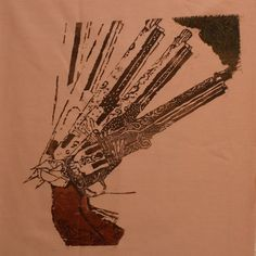 Six Shooter Woodblock Print | Maddy Grimmer