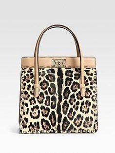 0e6ffa3d2e8a Valentino Leo Cavalino Studded Calf Hair  amp  Leather Top Handle Bag   2195.00  Valentino Leopard