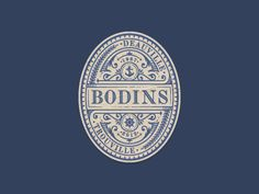 Bodins - Decorative, vintage logo badge (by JC Desevre).