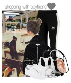 """""""shopping with boyfriend"""" by elliepetkova ❤ liked on Polyvore featuring Nicki Minaj, Coach, Lokai, Calvin Klein, Common Projects and Topshop"""