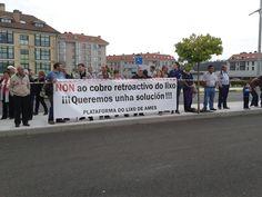 SantiagoeComarca: Plataforma do Lixo Ames - a plataforma na Milla Urbana  Junio 2012