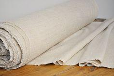 Homespun Linen Hemp Per 1 Yard lenght - Antique European fabric - upholstery hemp fabric