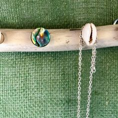 Excited to share this item from my shop: Abalone and Cowrie Sea Shell Driftwood Necklace Wall Hanger Necklace Wall Hanger, Necklace Holder, Arrow Necklace, Boho Beautiful, Beautiful Beaches, Starfish Necklace, Still Life Oil Painting, Manzanita, Abalone Shell