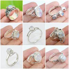New Peach Moonstone Lab Created Orange Diamond .925 Sterling Silver Ring Size 6