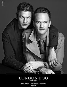 The final portrait: David Burtka and Neil Patrick Harris for London Fog's 2014 holiday campaign.