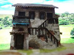 Modele Kartonowe: Old Brasilian Sobrado