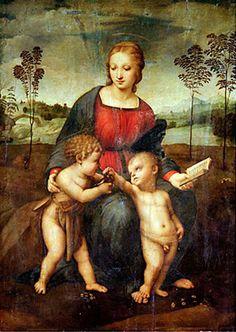 Degli Madonna Uffizi The Florencia Raphael Por galleria Of Goldfinch fOqwSC1