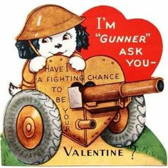 Happy Valentine's Day to all my Pinterest friends, near and far. I love the old military themed cards. They tried to bring a moment or two of levity and romance to a horrible time. Remember that greatest Commandment of all - that is so appropriate for this day - that we love one another as He has loved us. Then perhaps, war will be no more. #HalifaxAuthor #valentinesday #valentines #peaceandlove #peace #greatestcommandment #writer #amwriting #author #daniellloydlittle #halifax…
