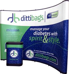 The pop up display is lightweight, easy to transport http://www.impact-displays.com/popup_displays.php