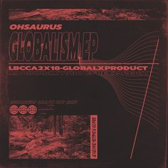 Ohsaurus Album Artwork Retro Vintage Graphic Design Abstract Texture LP vinyl glitch electronic underground techno poster