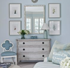 Blue And Gray Living Room - Design photos, ideas and inspiration. Amazing gallery of interior design and decorating ideas of Blue And Gray Living Room in living rooms by elite interior designers. Furniture, Room Design, Chic Living Room, Interior, Blue Living Room, Blue Rooms, Home, Bedroom Chest, Bedroom Inspirations