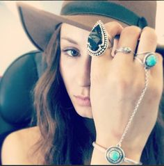 We love Troian Bellisario's turquoise jewelry! #PrettyLittleLiars