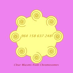 Clear miasms from chromosomes.