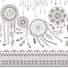 Hawthorne Threads - Coyote - Dreamcatcher Border in Stone