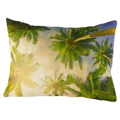 Tropical Tree Tops Cushion