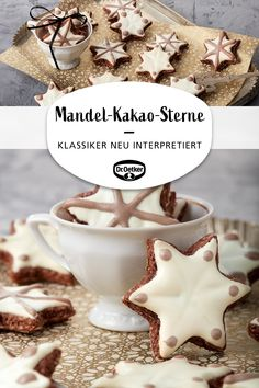 Mandel-Kakao-Sterne - Almond cocoa stars: Christmas cookie cutters with almonds – a classic reinterpreted Seas - Chocolate Paleo, Dairy Free Chocolate Cake, Chocolate Mousse Cake, Christmas Cookie Cutters, Christmas Baking, Christmas Cookies, Christmas Recipes, Baking Recipes, Cookie Recipes