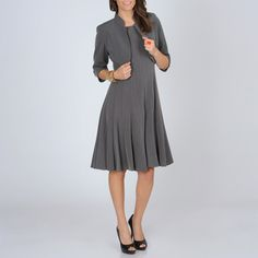 @Overstock - Add a stylish touch to your wardrobe with this charcoal grey two-piece dress from R Richards. A mandarin-collared jacket with 3/4-length sleeves and a pleated dress highlight this set. http://www.overstock.com/Clothing-Shoes/R-M-Richards-Womens-Charcoal-2-piece-Career-Dress/7492346/product.html?CID=214117 $66.99