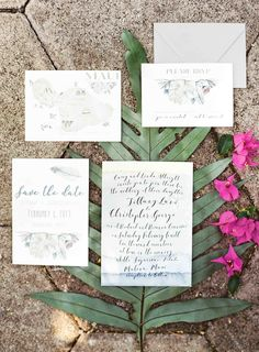Wedding Invitation Suite with Modern Calligraphy