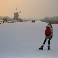"""A rare """"once in a decade"""" treat where it freezes enough to skate to school/work.   Beautiful."""