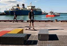 T.C.L - Taylor Cullity Lethlean : Projects : Auckland Waterfront - North Wharf Promenade and Silo Park