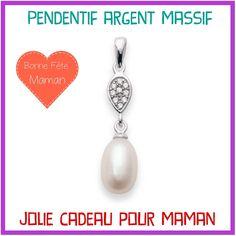 Acheter ce pendentif >> https://bijouxagogo.com/p/pendentif-femme-argent-massif-rhodie-oxyde-de-zirconium-perle-d-imitation-70004/