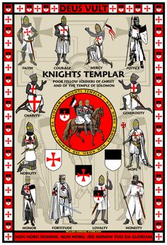 King Arthur and the Knights of the Round Table by williammarshalstore on DeviantArt Knights Templar History, Knights Templar Symbols, Medieval Knight, Medieval Armor, Knight Orders, Masonic Art, Masonic Lodge, Masonic Symbols, Knights Hospitaller