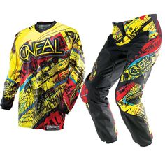 Oneal Motocross, Motocross Kit, Bikes Direct, Troy Lee, T Shorts, Motorcycle Jacket, Cool Stuff, Yellow, Graphics
