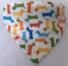 A personal favourite from my Etsy shop https://www.etsy.com/au/listing/507544897/dog-bandana-pet-bandana-dachshunds-white