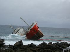 The Colombo Queen run aground during Linfa.jpg