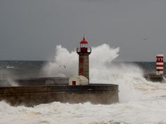 Lighthouse Foz do Douro, Grande Porto, Norte, Portugal