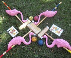 Have a fun Alice in Wonderland Party with DIY Flamingo Croquet!