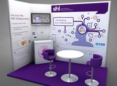 Exhibition stand design for SHL as part of the 'Be the best, train with the best' Training Academy campaign created by FDG.