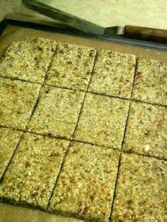 Cinnamon Banana Bread Squares – Raw Vegan Recipe W/ Almond Milk Pulp (and Food Journal)