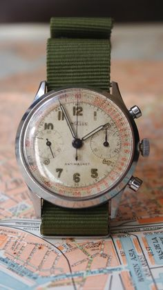 thetieguy: incredible vintage watch. forever reblog!