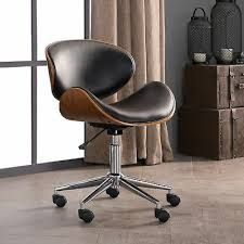 Shop Madonna Mid Century Adjustable Office Chair by Corvus - On Sale - Overstock - 20882610 Wooden Office Chair, Black Office Chair, Office Chairs, Desk Chairs, Bar Chairs, Side Chairs, Salon Chairs, Lounge Chairs, Contemporary Dining Chairs
